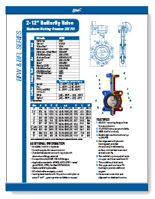 Flow+ Ductile Iron Resilient Seated Butterfly Valves Class 150 Lug or Wafer 2-12 inch Brochure