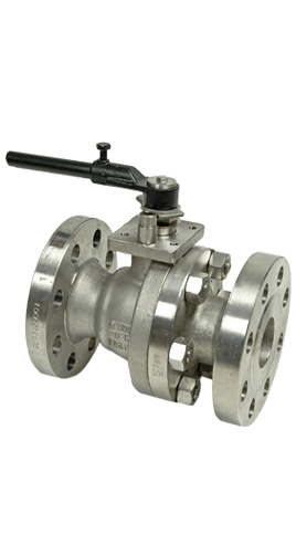 Flow+2-Piece Stainless Steel Ball Valves Class 300 Flange Image