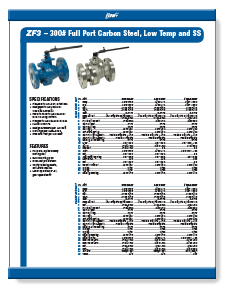Flow+2-Piece Stainless Steel Ball Valves Class 300 Flange Brochure