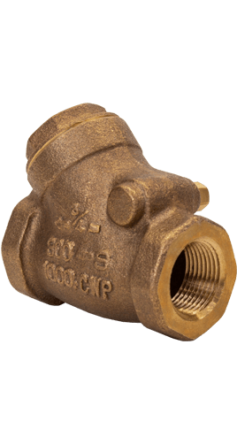 NCI Bronze Swing Check Valves Class 300 Threaded NPT Image