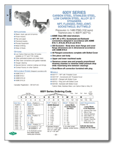 SSI Carbon Steel Y-Strainers Class 600 Flange, NPT or Socket Weld Brochure